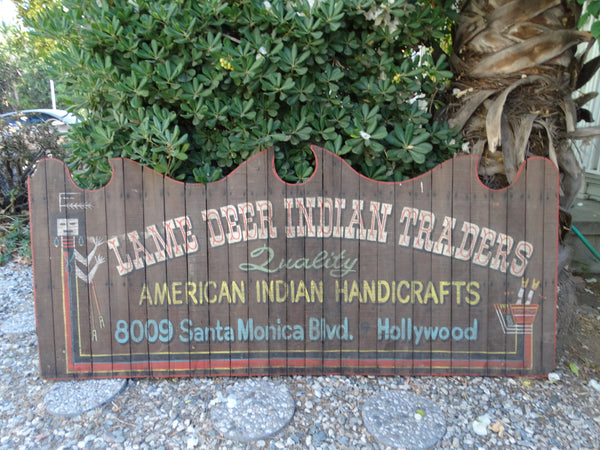 Lame Deer Indian Traders Sign