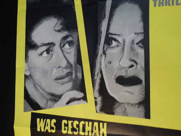 Vintage Movie Poster German WHATEVER HAPPENED TO BABY JANE?
