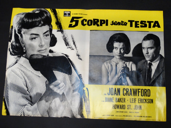 Italian movie half sheet for STRAIT-JACKET with Joan Crawford