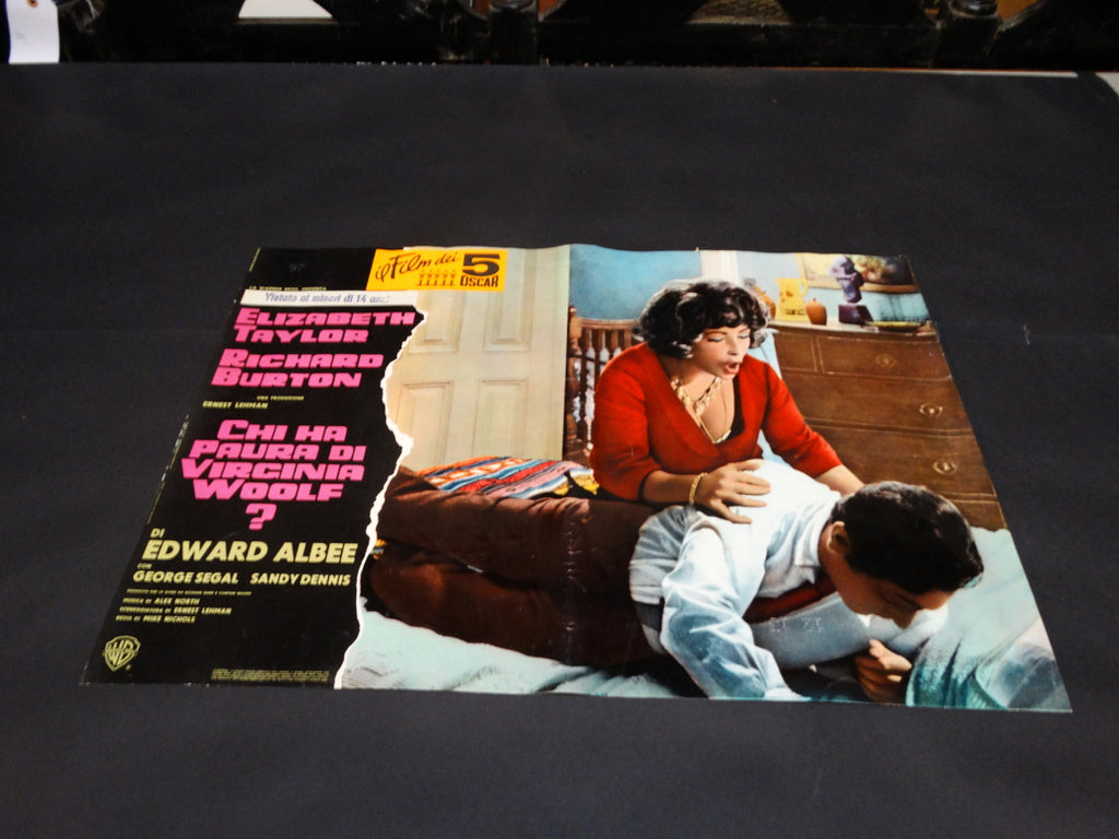 Italian movie half-sheet for WHO's AFRAID OF VIRGINIA WOOLF with Taylor/Burton