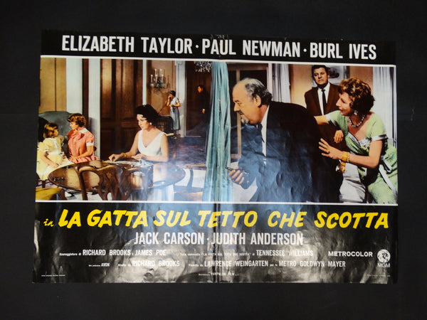 Italian Movie Half-sheet for CAT ON A HOT TIN ROOF with Taylor/Newman