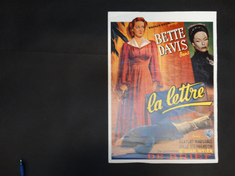 """The Letter"" Bette Davis Movie Poster ""La Lettre"""