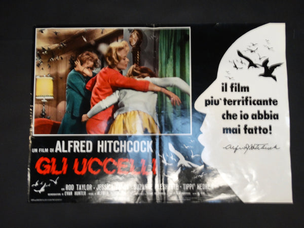 Alfred Hitchcock - THE BIRDS -  Italian poster version - GLI UCCELLI