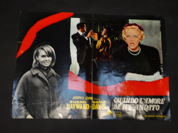 WHERE LOVE HAS GONE 1964 Italian version half sheet poster