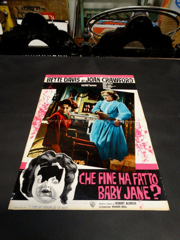 WHATEVER HAPPENED TO BABY JANE? 1962 Italian version half sheet poster