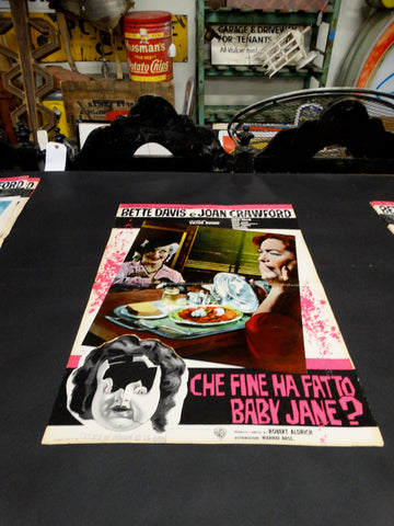 WHATEVER HAPPENED TO BABY JANE? 1962 Italian version vintage half sheet poster
