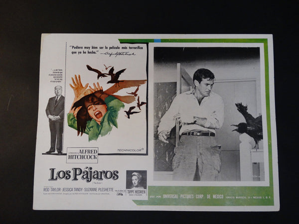 THE BIRDS 1963 Vintage half sheet poster, Spanish version LOS PAJAROS