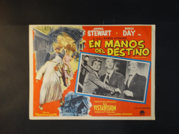 Alfred Hitchcock The Man Who Knew Too Much (En Manos Del Destino) lobby card, Spanish version