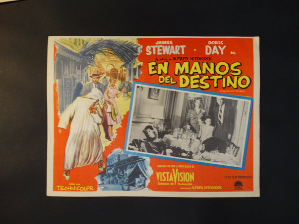 "Alfred Hitchcock ""The Man Who Knew Too Much"" lobby card, Spanish version"