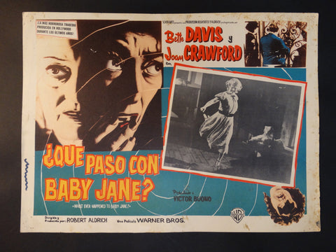 """Whatever Happened to Baby Jane"" lobby card, Spanish version"