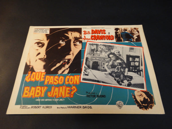 Whatever Happened to Baby Jane (Que Paso Con Baby Jane?) lobby card, Spanish version