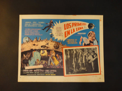 FIRST MEN IN THE MOON 1964 (Los Primeros en la Luna) vintage lobby card