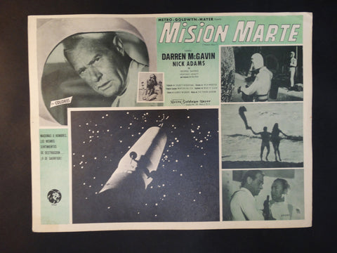 """Mission to Mars"" lobby card, Spanish version"
