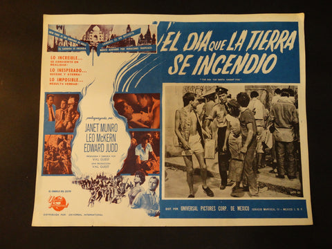"""The Day the Earth Caught Fire"" lobby card, Spanish version"