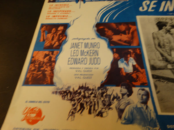 THE DAY THE EARTH CAUGHT FIRE 1961 lobby card, Spanish version