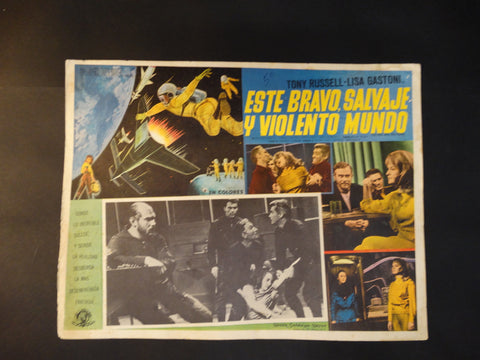 """The Wild, Wild Planet"" lobby card, Spanish Version"