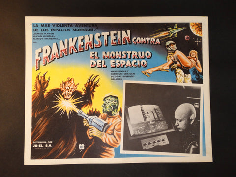 """Frankenstein vs. The Space Monster"" lobby card (Spanish)"
