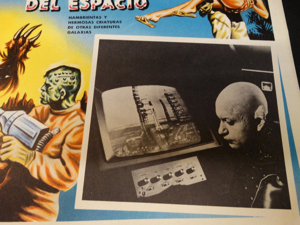 FRANKENSTEIN MEETS THE SPACE MONSTER lobby card (Spanish) 1965
