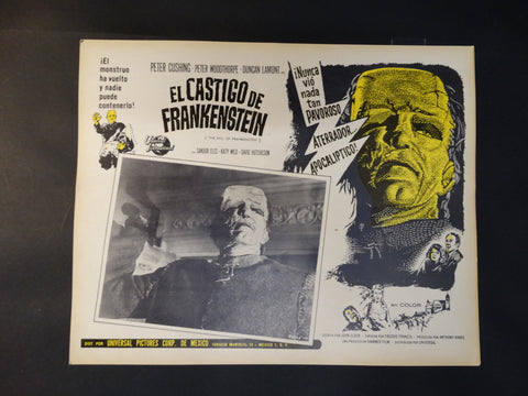 """The Evil of Frankenstein"" lobby card"