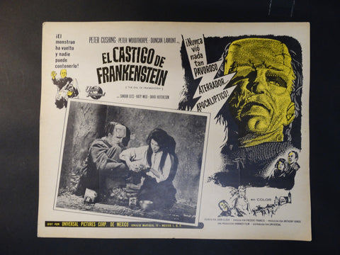 """The Evil of Frankenstein"" lobby card (Spanish version)"