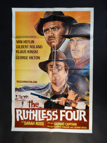 THE RUTHLESS FOUR 1968 one sheet movie poster