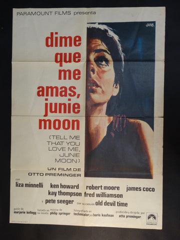 """Tell Me That You Love Me, Junie Moon"" one sheet (Spanish)"
