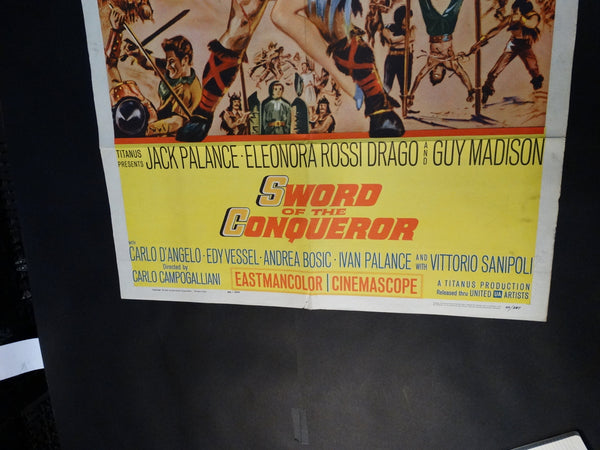 SWORD OF THE CONQUEROR One sheet movie poster