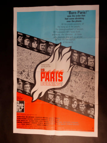 """Is Paris Burning?"" one sheet"