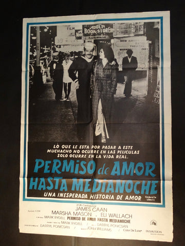 CINDERELLA LIBERTY 1973 (Permiso de Amor Hasta Medianoche) vintage Spanish language one-sheet