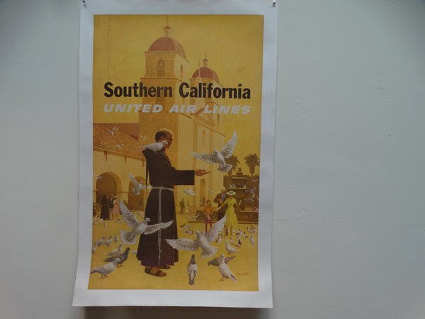 United Air Lines Southern California Poster