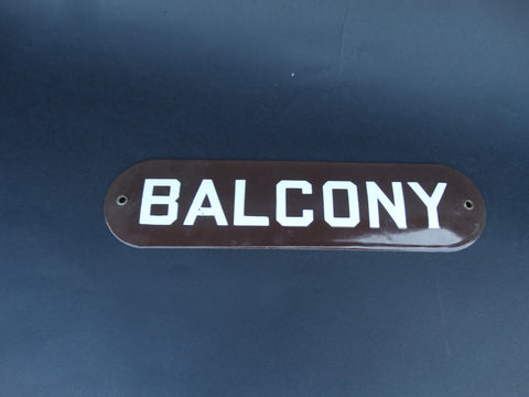 "Vintage ""BALCONY"" sign"