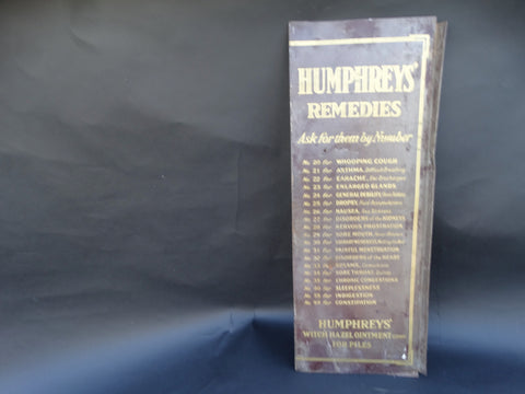 """Humphrey's Remedies"" Vintage Sign"