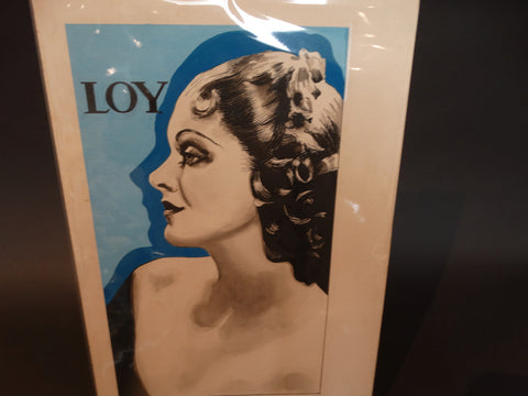 Myrna Loy Illustration