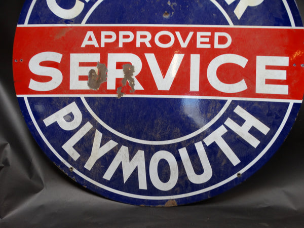 Chrysler-Plymouth Double-Sided Porcelain-Enamel Sign
