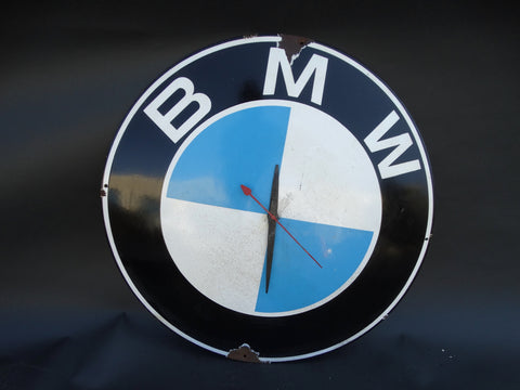 BMW Porcelain Enamel Dealer Sign