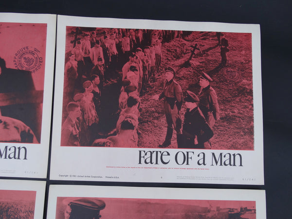 """Fate of a Man"" - set of 4 Lobby Cards"