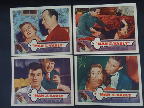 The Man In The Vault (1956) 4 Lobby Cards