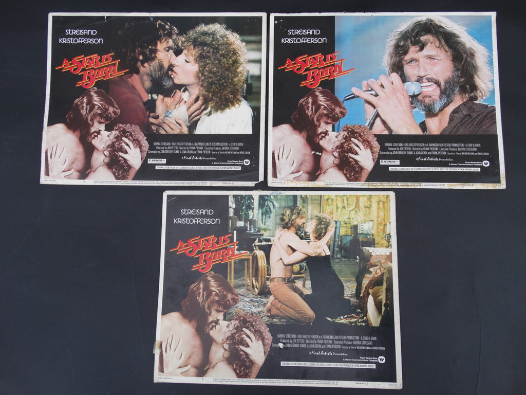 A Star Is Born (1976) 3 Lobby Cards
