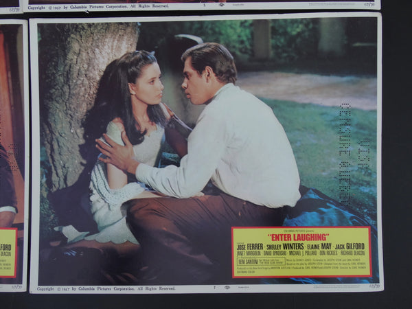 """Enter Laughing"" - set of 4 Lobby Cards #2"