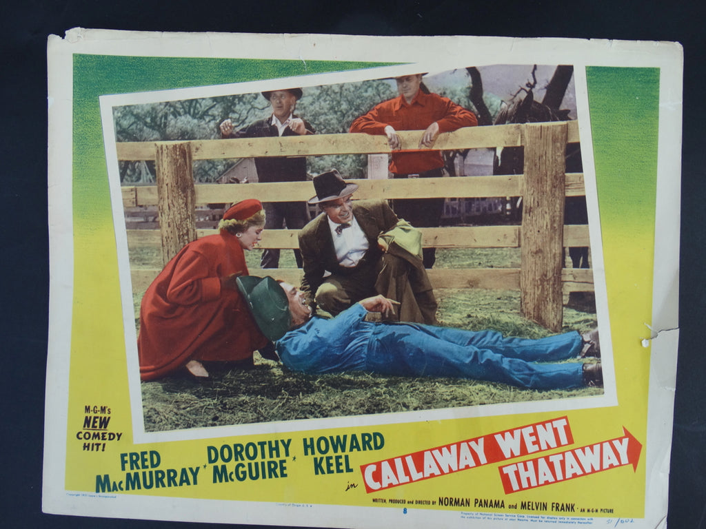 """Callaway Went That a Way"" Lobby Card"