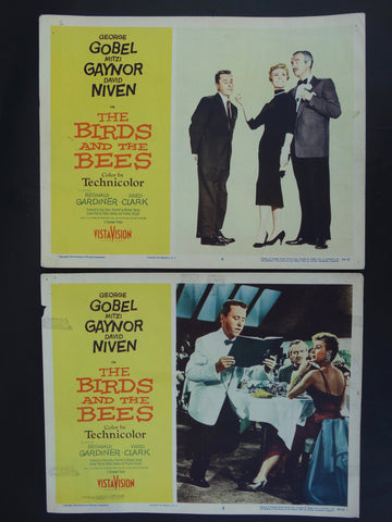 THE BIRDS AND THE BEES 1956 -- Set of 2 Lobby Cards