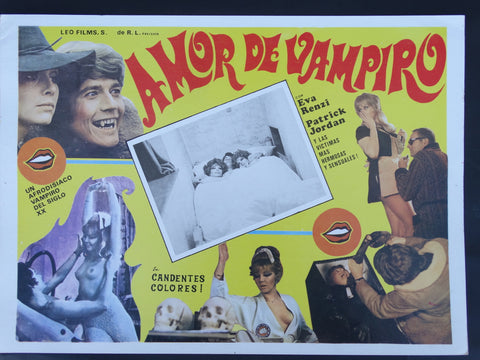 Amor de Vampiro or Beiss Mich Liebling or The Amorous Adventures of a Postman (1970) Lobby Card