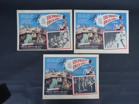 Los Primeros En La Luna (First Men In The Moon 1964) set of 3 Lobby Cards