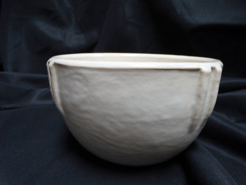 "White Glazed Bauer Indian Bowl #7: 5"" x 8 1/4"""