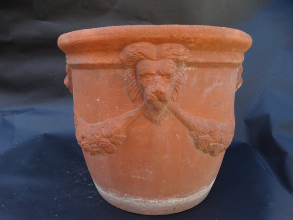 Bauer Bisque Redware Lion Pot c 1936