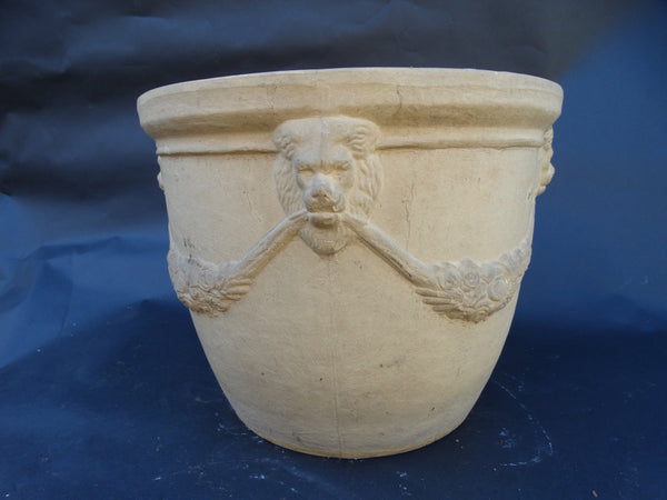 Bauer Bisque Lion Garden Pot c 1930
