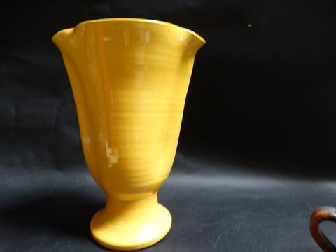 Bauer Matt Carlton Large Pinched Lip Vase in Yellow B3032