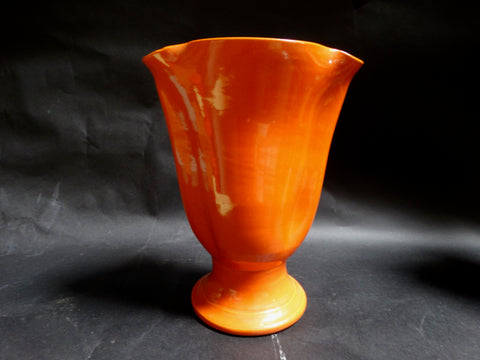 Bauer Matt Carlton Medium Pinched Lip Vase in Orange B3033