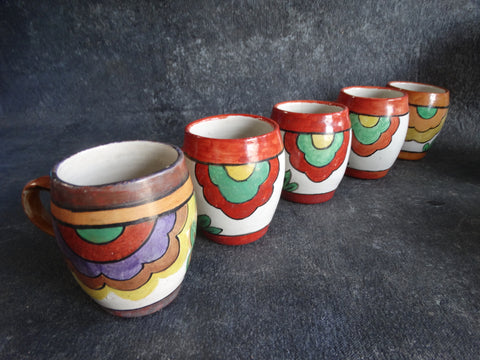 Bauer Matt Carlton set of 5 Decorative Mugs B3034