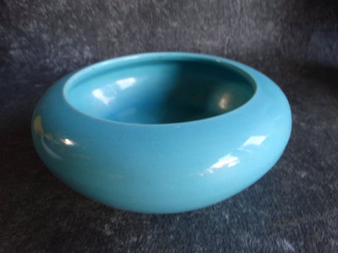 Bauer High-fire Low Bowl in Turquoise B3044